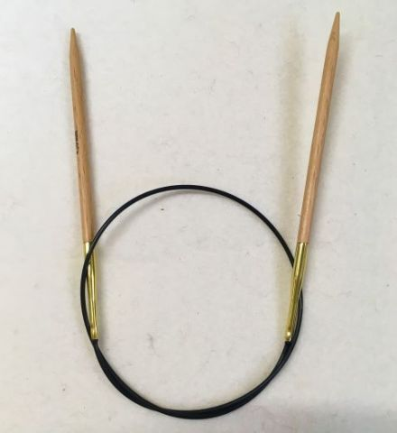 Basix Birch Fixed Circular Needles 40cm Cord
